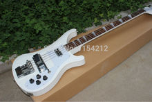 Vicers  Wholesale - 4 strings bass 4003 pure white electric bass guitar silver hardware China Guitar HOT SALE