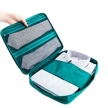 Hot selling Portable Korean Fashion Multifuction Outdoor Travel Camping Pouch Necktie Slim Shirt Pouch Blue(China)