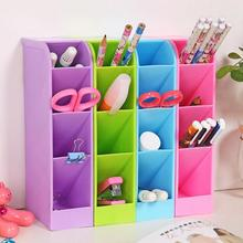 Fashion Simple Colorful Storage Box Women makeup Jewelry Organizer boxes Multifunction Desktop Debris grids Cabinet v2(China)