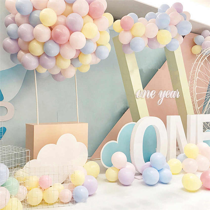 10PCS 2.2 Gram Macarons Latex Helium Balloon Wedding Room Party Ball Kid Child Toy Wedding Decoration 10 Inch Balloon Q001#1-20