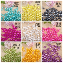 Wholesale 8mm Dia.130pcs/lot Round Pearl Imitation Plastic Pearl Beads Many Colors For You To DIY Fashion Jewelry(China)