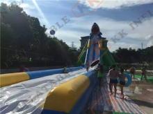 Inflatable wild rapid slip and slide inflatable long beach rental water slide(China)