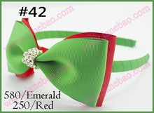 "free shipping 120pcs  Boutique Good Woven Headband 5"" Bowknot Hair Bow Clip"