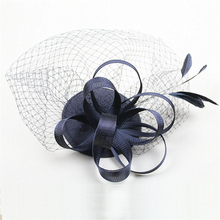 Feather Fascinator Clip Hat Veil Flowers Bridal Headpiece Wedding Hats And Fascinators Chapeu Cabelo Hair Accessories WIGO0867