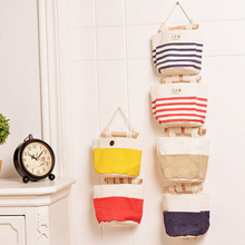 Brand New Portable Toy Storage Bag Cotton and Linen Cable Bag Eco-friendly Hanging Organizer Jute Bag on The Wall(China)