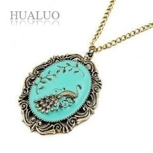 Wholesale Factory Outlets Guaranteed 100% Korean Fashion Peacock Pendant Necklace N21