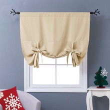 "NICETOWN Thermal Insulated Blackout Curtain - Tie Up Shade for Small Window (Rod Pocket Panel, 46""W x 63""L)"