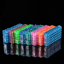 10pcs/lot 14mm colorful Dice Transparent Clear dices for board game bar cambling playing rpg game set Club Party Accessories