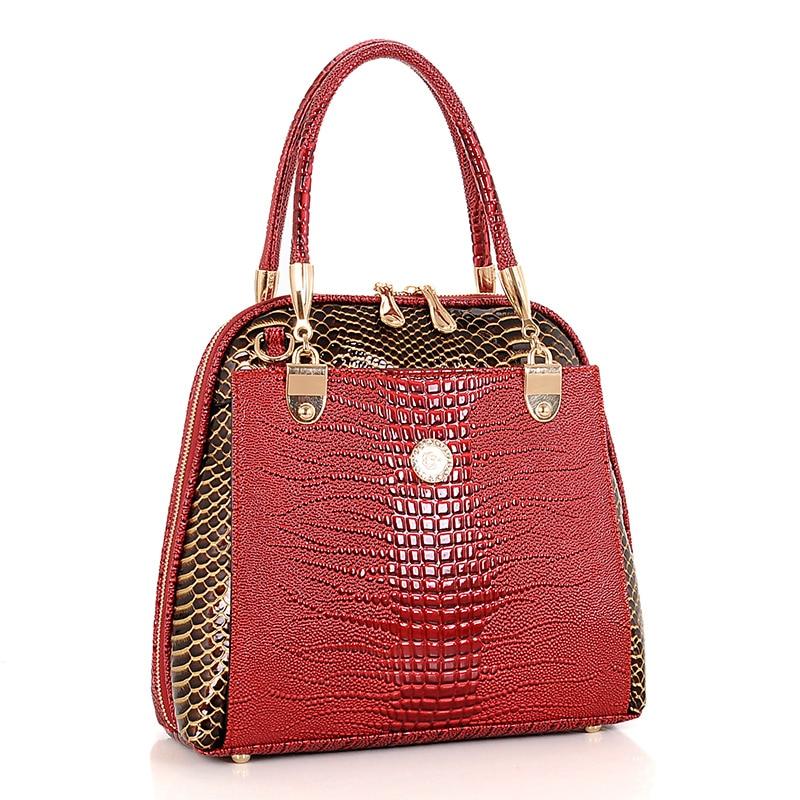 2017 New Alligator Leather bag Luxury Women Handbag PU Leather Ladies Shoulder Bag Famous Brand Designer Female Bag<br>