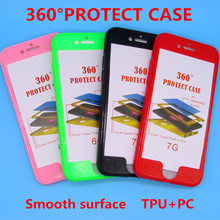 New products For Apple iPhone6 6S 6Plus chassis 360 body cover PC TPU phone kit for iphone7 7Plus protective cover two-in-one(China)