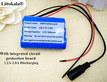 Liitokala 3.7V Battery Pack 7800mAh 18650 Battery 7.8Ah Rechargeable Batteries For Belt Charger/Loudspeaker/Robot/Light Hot Sale
