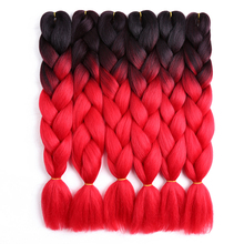 24inch Ombre Kanekalon Jumbo Braids Synthetic Braiding Hair Extensions Number Braid Crochet Golden Beauty Two Ton Colored Hair