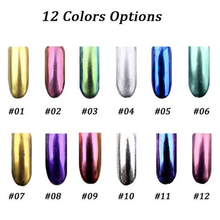 2g Magic Mirror Powder Shinning Chrome Metal Nail Art Tips Decoration Pigment Glitter Dust Sequins Tool DIY Salon Manicure Brush