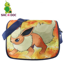 Anime Pokemon Flareon Shoulder Bags Children Boys Girls School Book Bag Children Cartoon Pokemon Crossbody Bags Shoulder Bag(China)