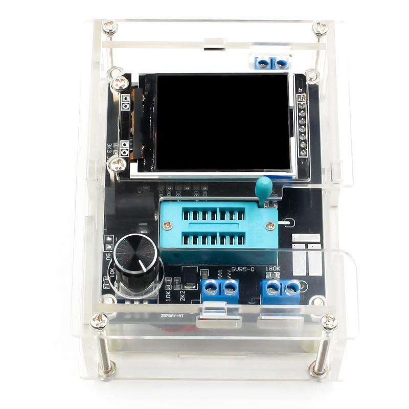 GM328 Multi-use Transistor Tester DIY Kit Diode Capacitance Voltage Meter PWM Square Wave Signal Generator +DIY Acrylic Case 1
