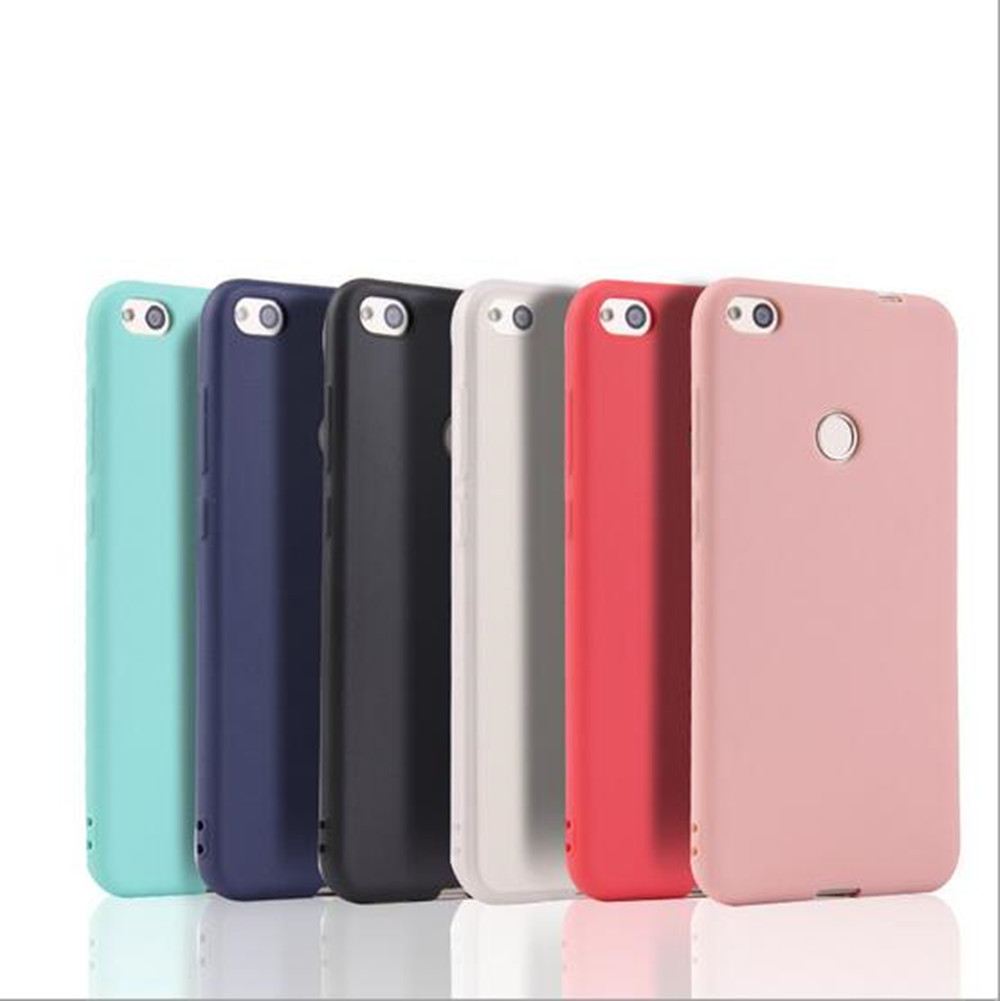 Solid Candy Color TPU Rubber Case Cover For Huawei P9 Lite 2017 Not For Huawei P9 lite Silicon Case Back Cover(China)