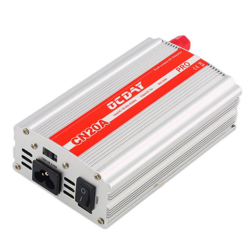 1pcs OCDAY 220W 14V 20A Adaptor Power Supply Aluminum Alloy Shell Aeromodelling Professional Power Supply +Retail box<br>