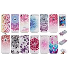 Phone Cases For Apple iPhone 6 S 6S i6 SE 5 5S 7 Plus Ultra Clear Silicon Mandala Flower Butterfly Thin TPU Etui Capinha Coque