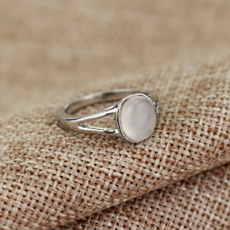 Solid silver Plated moonstone ring fashion and cute women/'s ring Brand New