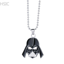 HSIC Dropshipping 10PCS/LOT  Star Wars Darth Vader Helmet Necklace&Pendant Link Chain Necklace Birthday Surprise Gifts Boys Men