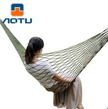 New Portable Nylon Individual Hammock Garden Outdoor Camping Travel Furniture Survival Hammock Swing Sleeping Bed for One Person