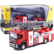 High simulation 1:32 alloy fire rescue, engineering car, Volvo fire truck, original packaging gift box,free shipping