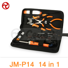 Buy JAKEMY 14 1 Portable Repairing Tools Set Soldering iron/Metal Spudger/Pliers Herramienta Ferramenta Household Tool Set JM-P14 for $62.82 in AliExpress store