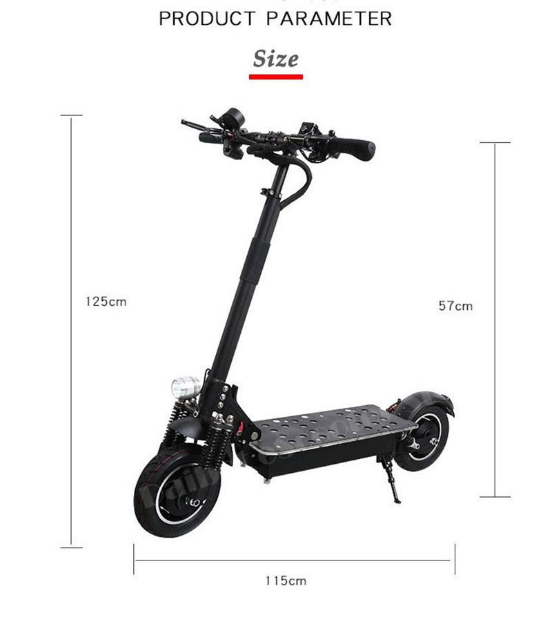 UBGO Powerful Electric Scooter 10 Inch 52V60V Two Wheel Electric Scooters Double Drive Electric Scooter 2000W Motor for Adults (7)