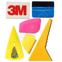 3M wool squeegee sharp scraper blue felt squeegee mini pink yellow multilateral tinting glass tools for auto car-styling K47