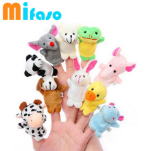10 pcs/lot Baby Plush Toy finger Puppet toy Tell Story Props Animal Doll /Kids Toys /Children Gift  Juguetes Bebe Toys