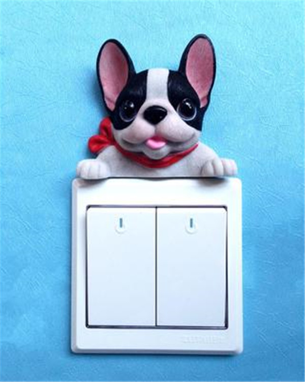 French Bulldog cute puppy dogs resin switch stickers fridge magnets - Buyer's Show 21