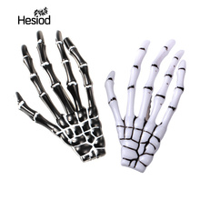 Fashion Hair Accessories Skeleton Claws Skull Hand Hair Clip Hairpin Zombie Punk Horror Bobby Pin Barrettes For Women hair clip(China)