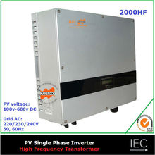 2000W on grid solar inverter single phase high frequency transformer CE IEC CDE G83 AS DK approved