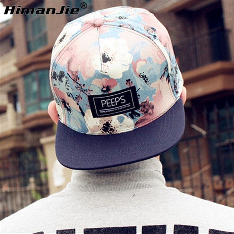 HimanJie unisex fashion caps floral adjustable snapback caps baseball hats 2016 Hot sale unisex sportship hop flat baseball caps<br><br>Aliexpress