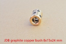 8mmx15mm x24mm linear graphite copper set bearing copper alloy bushing oil self-lubricating bearing JDB 8x15x24 1pcs