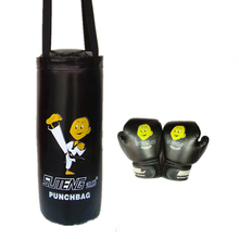 New SUTEN Brand 55cm Boxing Cartoon Children Sandbag with Boxing Gloves Striking Drop Hollow Empty Sandbag Training Punch Target
