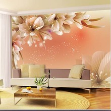 Large 3D Wall Murals Photo Wallpaper Flower for Living Room TV Background Wall Paper Floral papel para pared Customer(China)