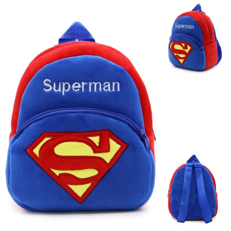 IVI Superman schoolbag for Toddler Kids Children Boy Girl Plush Cartoon Backpack Schoolbag Rucksack School Bags<br><br>Aliexpress