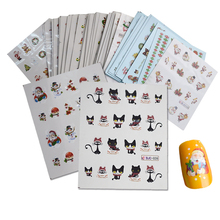 44 Sheets Mixed Christmas Sticker Nail Art Sticker Set Nail Decorations Manicure Water Tips Winter Designs Nail Foils CHNJ004(China)