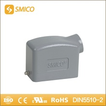 SMICO H10B-SK-2B-PG16 heavy duty connector Al-alloy Die-cast Material top entry hood with UL certificate(China)