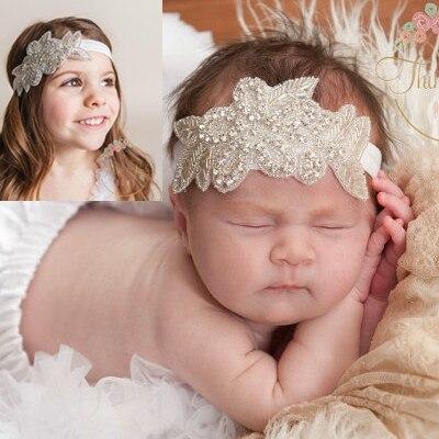 1PCS Retail Cute Kids Baby Girls headbands Rhinestone flowers with leaves Headbands children hair accessories td23<br><br>Aliexpress