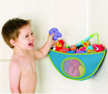 Kids Baby Bath Time Toys Suction Storage Bag Folding Hanging Type Mesh Net Bathroom Shower Toy Organization Bag