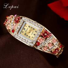 Lvpai Fashion Watches Women Flower Crystal Bracelet Wristwatches Women Electronics Quartz Clock Electronics Jewelry Watch
