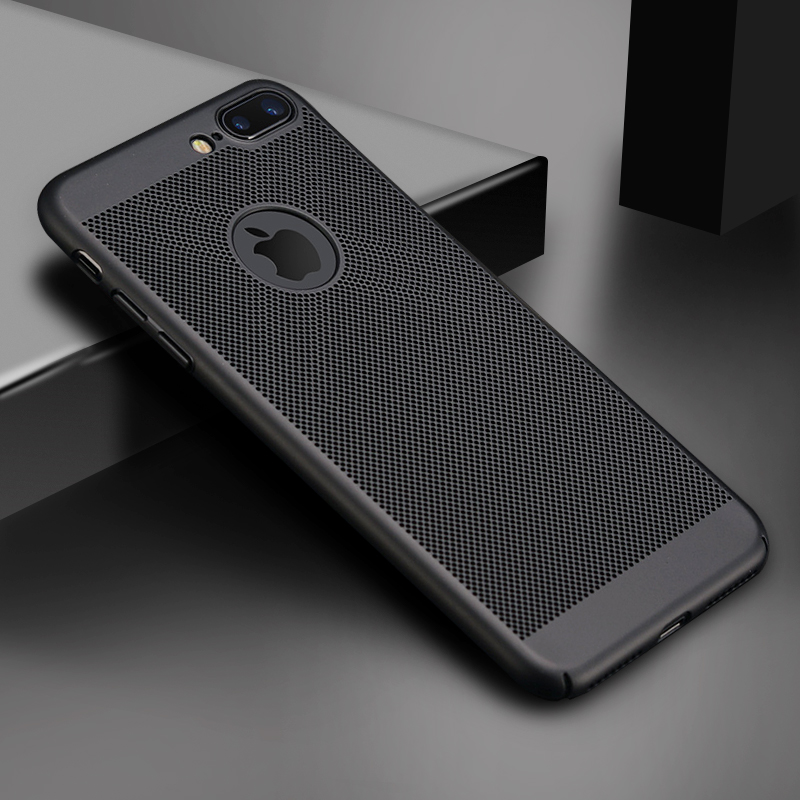 Ultra Slim Phone Case For iPhone 7 iPhone8 Plus Hollow Heat Dissipation Cases