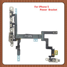 10pcs  power  switch button flex cable for iphone 5 G on off  ribbon Volume Mute flex  cable  replacement