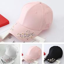 Mens Womens Boys Plum blossom flower embroidery Tennis  Baseball Cap Adjustable Hats