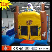 test report 5x5x4.5m Inflatable castle bouncer kid jumpers bouncers with slider bouncy castle(China)