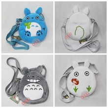 TOTORO Japanese Anime satchel shoulder bag coin bag money bags zip musette bag easy take new(China)