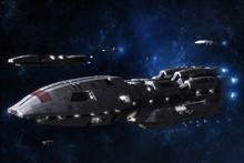 BATTLESTAR GALACTICA action adventure drama sci fi spaceship cloth silk art wall poster and prints