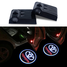 2x LED Car Door Logo Warning light For toyota corolla avensis yaris rav4 auris hilux corolla prius celica prado fortuner emblem